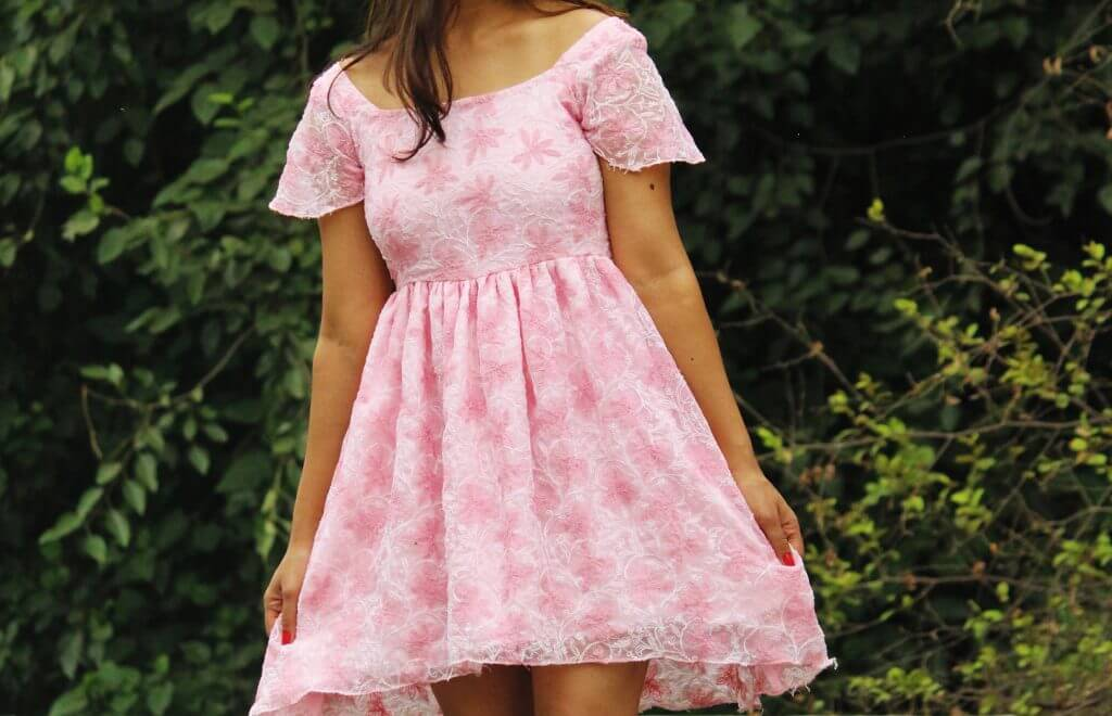 Shrizan Pink Dress Cropped Picture