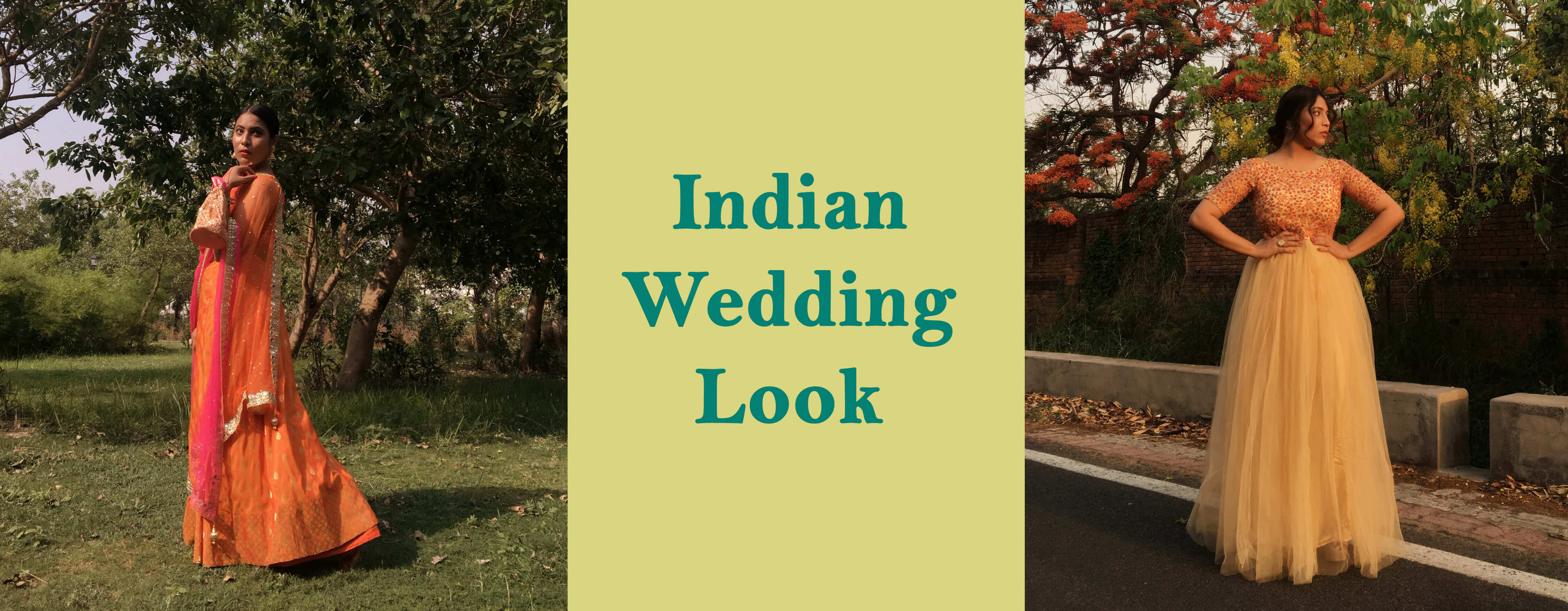 Two Wedding Dress Ideas for Perfect Indian Party Look